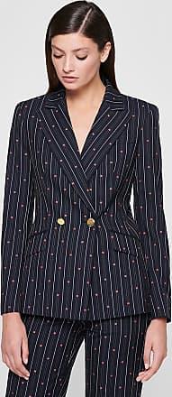 Escada Wool Cotton Stripe Jacquard Blazer