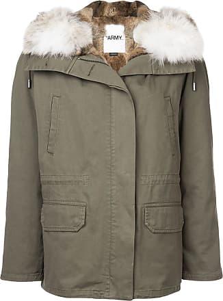 Yves Salomon - Army hooded parka coat - Green