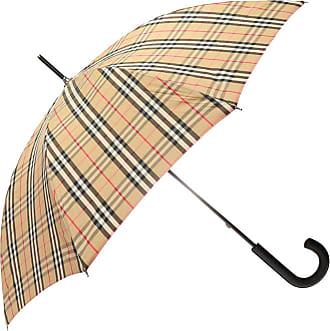 Burberry Checked Umbrella Womens Beige