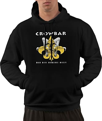 Not Applicable Clothing Mens Long Sleeve Hoodies Crowbar American Band Pullover Hooded Sweatshirt with Pockets Black
