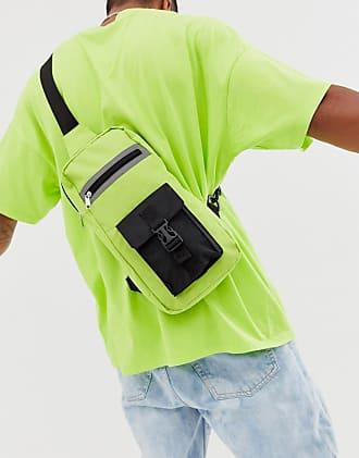 7X SVNX single strap cross body bag with reflective detail-Green