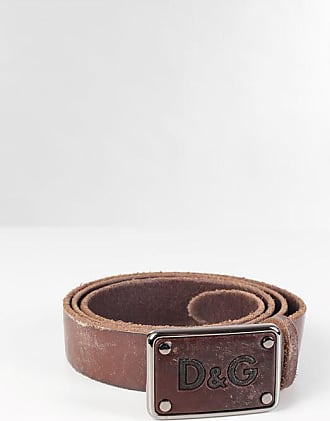 Dolce & Gabbana Vintage Effect Leather Belt 30mm size 105