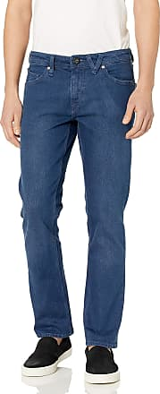 Volcom Mens Vorta Slim Fit Stretch Denim Jean, Blue Ozone, 34W x 32L