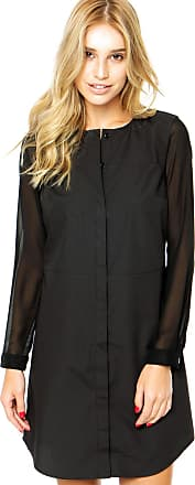 Finery Vestido Finery London Lansdell Sheer Sleeved Shirt Preto