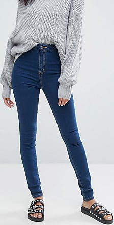 Noisy May Blaue, enge Jeans mit hohem Bund