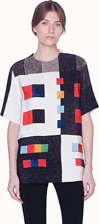 Akris Silk Crêpe Blouse with 3/4 Length Sleeve