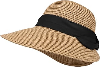 Laisla Fashion Madchen Straw Beach Hat Summer The Outdoor Classic Fashion Women Sunscreen Trip Straw Hat Casual Beachwear Cap Black Belt Decoration Cap (Color : Whit