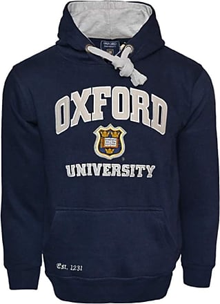 Oxford University OU129 Licensed Unisex Hooded Sweatshirt Navy/Grey (2XL)