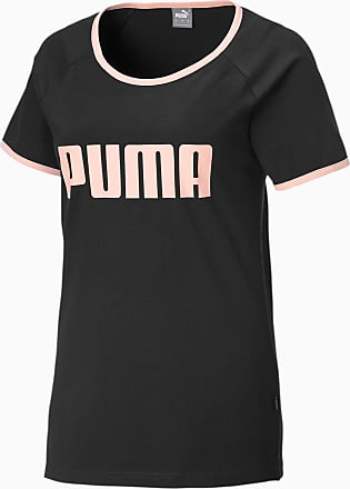 Puma Contrast Womens Ringer T-Shirt, Black, size X Large, Clothing
