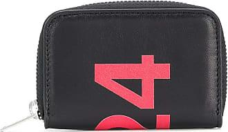 424 Portemonnaie mit Print - Schwarz