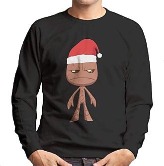 MARVEL Christmas Teen Groot Xmas Hat Mens Sweatshirt Black