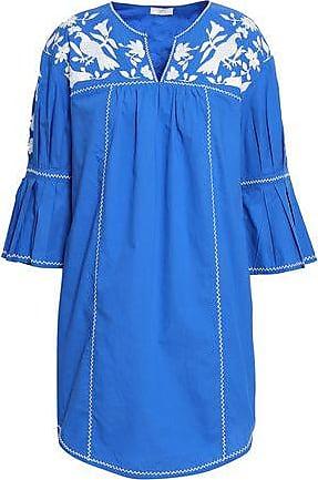 Joie Joie Woman Embroidered Cotton-poplin Mini Dress Azure Size XXS