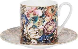 Roberto Cavalli Golden Flowers Coffee Cup & Saucer