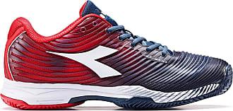 Diadora Mens 4 Clay Sandplatzschuh Herren - Dunkelblau, Rot Tennis Shoes, Dark Blue/red Capital, 47 EU