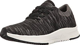 Freewaters Womens Sky Trainer Knit Lace-Up Shoe, Black/Grey, 6 M US