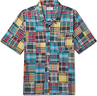 Universal Works Patchwork Checked Cotton Shirt - Multi
