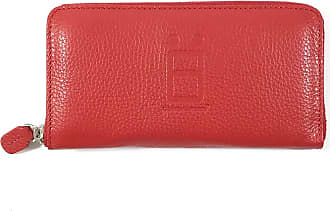 Comembreisd Red leather woman wallet designed and handmade in Italy