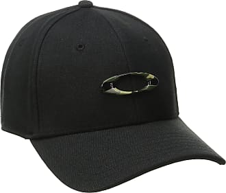 Oakley Mens TINCAN Cap Hat, Black/Graphic Camo, X-Large