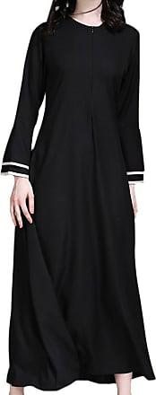 Zhuhaixmy Modest Middle East Muslim Islamic Women Robes Arabic Maxi Dress Trumpet Sleeves Turkey Church Prayer Ethnic Clothing Kaftan Apparel Abaya Girls Wear f