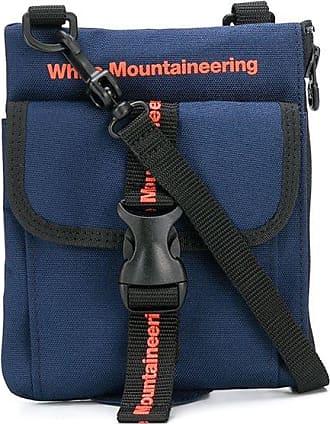 White Mountaineering Bolsa tiracolo com estampa de logo - Azul