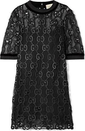 Gucci Mini-robe En Macramé, Velours Et Gros-grain - Noir 3a77f8da8e0