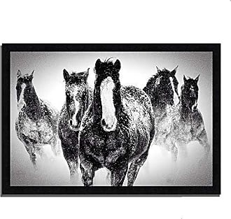 Tangletown Fine Art Winter Rumble Framed Art Black/White
