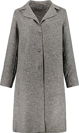 Ulla Popken Womens Plus Size Lightweight Classic Coat Light Grey Melange 32 720345 13-58
