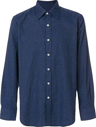 Canali polka dot shirt - Azul