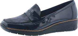Rieker Womens Softlack Navy Leather Slip-On Shoes 53732-14 6.5 UK / 40 EU