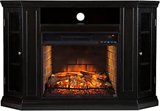 Southern Enterprises AZ5139IF Claremont Convertible Media Infrared Fireplace, Black Finish
