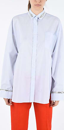 Ermanno Scervino bayadere striped Oversized Shirt with Jewel Embroideries size 36