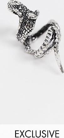 Reclaimed Vintage lizard ear cuff in burnished silver