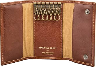 Maxwell Scott Maxwell Scott - Luxury Tan Wallet Key Holder (Lapo)