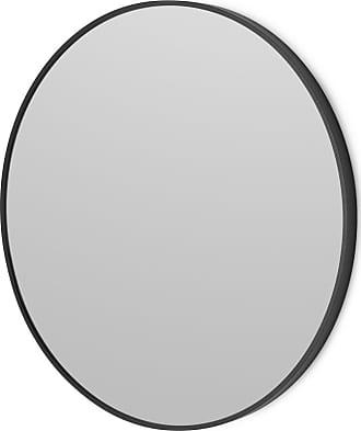 MADE.COM Parton runder Spiegel (o 60 cm), Mattschwarz