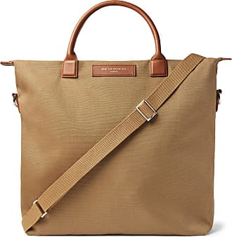 Want Les Essentiels Ohare Leather-trimmed Organic Cotton-canvas Tote Bag - Brown