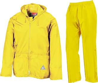 Result Waterproof Jacket/Trouser Suit in Carry Bag Neon Yellow XXL