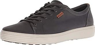 Ecco Mens Soft 7 Sneaker, Titanium Oil Nubuck, 48 M EU (14-14.5 US)