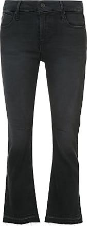 Rta Calça jeans flare cropped - Preto
