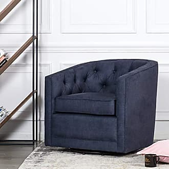 New Pacific Direct 1900101-157 Walsh Fabric Swivel Accent Chairs, Blue