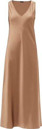 Joseph Daris V-neck Silk-satin Slip Dress - Womens - Mid Brown