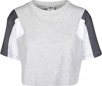 Urban Classics T-shirt court rétro tricolore avec bandes a77afc4b245