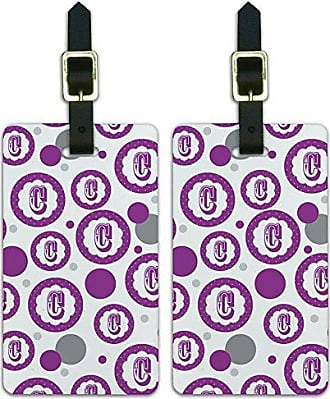 Graphics & More Graphics & More Flower Purple-Letter C Initial, White