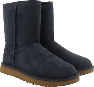 UGG Boots & Booties - W Classic Short II Navy - blue - Boots & Booties for ladies