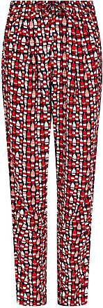 Weird Fish Tinto Patterned Harem Trousers Radical Red Size 10