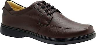 Doctor Shoes Antistaffa Sapato Masculino 414 em Couro Floater Café Doctor Shoes-Café Vegetal-41