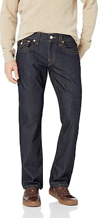True Religion Mens Straight Jean with Flap, Body Rinse, 30
