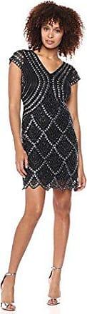 Pisarro Nights Womens Short Dress with Cap Sleeve and Pear Train Tack Motif