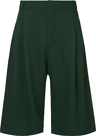 Ex Infinitas wide leg tailored shorts - Verde