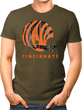 OM3 Cincinnati-Helmet - T-Shirt | Mens | American Football Shirt | 3XL, Olive