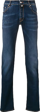 Jacob Cohen splatter details slim-fit jeans - Blue